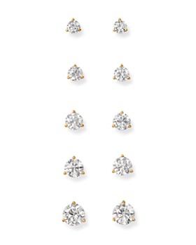 Bloomingdale's - Certified Diamond Stud Earrings in 18K Yellow Gold Martini Setting - 100% Exclusive