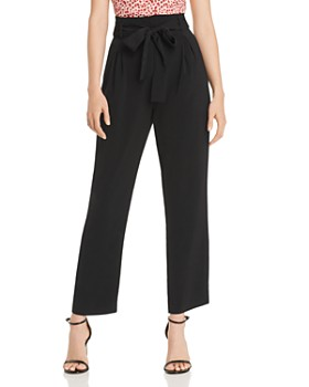 50441728fc1 AQUA - Belted Paperbag-Waist Pants - 100% Exclusive ...