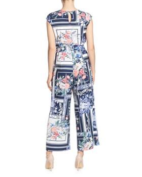 T Tahari - Floral-Print Wide-Leg Jumpsuit