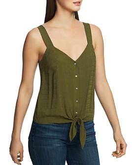 1.STATE - Sleeveless Tie-Front Top
