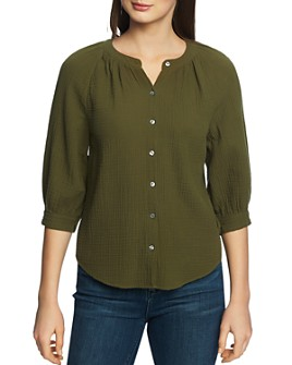 1.STATE - Textured Cotton Blouse