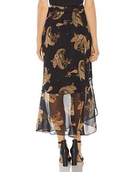VINCE CAMUTO - Paisley-Print Ruffled Wrap Skirt