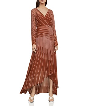 09c4f877e90 BCBGMAXAZRIA - Sunburst High Low Chiffon Dress ...