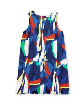 Ralph Lauren - Girls' Sailboat Pleated Satin Dress - Little Kid