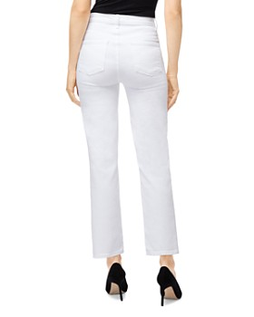 J Brand - Jules High-Rise Straight Leg Jeans in White