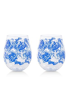 Lilly Pulitzer - Turtley Awesome Acrylic Wine Glasses, Set of 2