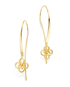 Bloomingdale's - Clover Threader Earrings in 14K Yellow Gold - 100% Exclusive