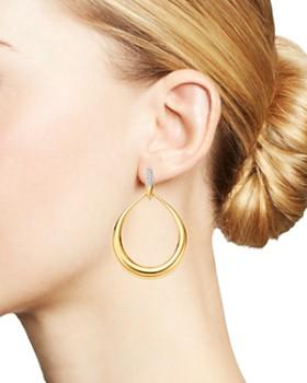 Roberto Coin - 18K Yellow Gold Diamond Teardrop Earrings