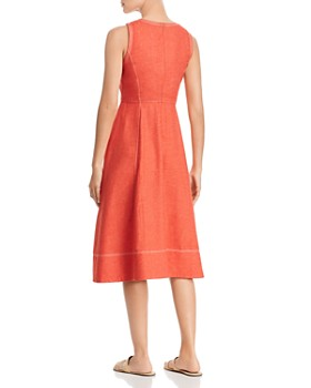 Donna Karan - Sleeveless Contrast-Stitch Dress