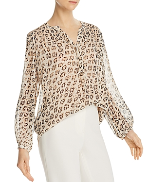 Joie Cordell Leopard-Printed Silk Blouse