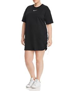 Nike Plus - Side-Cinched Swoosh T-Shirt Dress