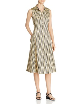 NIC and ZOE - Sleeveless Sunnies-Print Shirt Dress