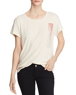 Current/Elliott - The Relaxed Distressed-Trim Graphic Tee