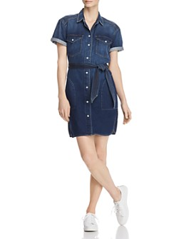 Current/Elliott - The Flint Denim Shirt Dress