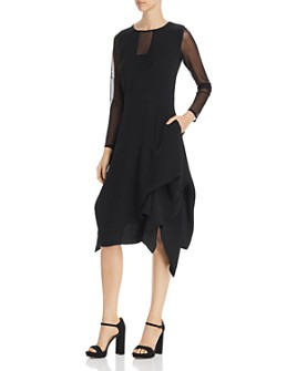 SNIDER - Catherine Mesh-Trim Dress