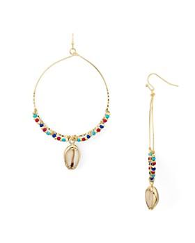 AQUA - Beaded Shell Hoop Earrings - 100% Exclusive