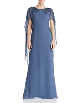 Adrianna Papell - Beaded Georgette Gown