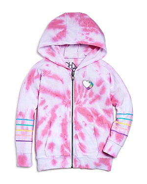 Chaser Girls' Tie-Dyed Heart Hoodie - Big Kid