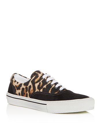 Burberry - Men's Wilson Leopard Print Low-Top Sneakers