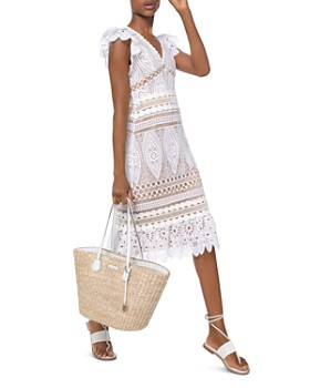 27f12bb32b2b MICHAEL Michael Kors - Stitched-Inset Lace Midi Dress ...