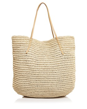 AQUA - Market Bag Raffia Tote - 100% Exclusive