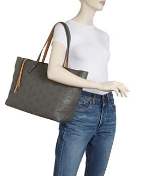 MCM - Klara Monogrammed Leather Shopper Tote