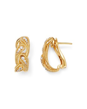 Roberto Coin - 18K Yellow Gold Byzantine Barocco Diamond Drop Earrings