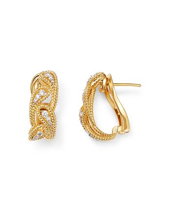 Roberto Coin - 18K Yellow Gold Byzantine Barocco Diamond Drop Earrings