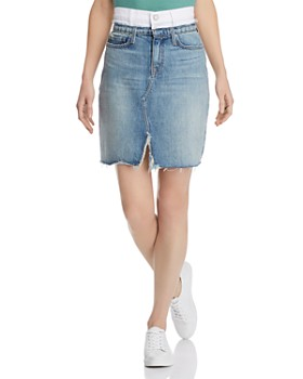 Hudson - Lulu Denim Skirt in White Charger