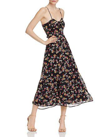 BB DAKOTA - Daisy Bloom Tie-Front Maxi Dress