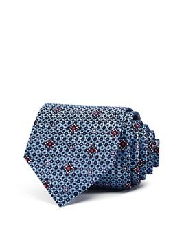 Ermenegildo Zegna - Textured Square Medallion Silk Classic Tie
