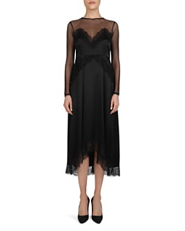 The Kooples - Beaded Lace & Mesh Midi Dress