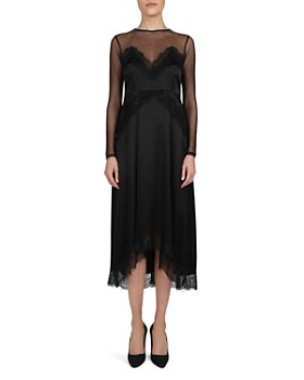 The Kooples - Beaded Lace & Mesh Midi Dress