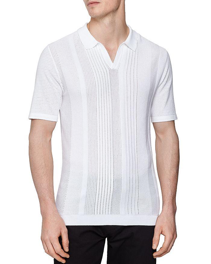 REISS - Reggie Texture Open Collar Regular Fit Polo Shirt