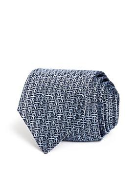 Burberry - Manston Micro-Monogram Silk Skinny Tie