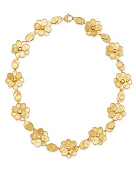 Marco Bicego - 18K Yellow Gold Petali Diamond Collar Necklace, 17.5""