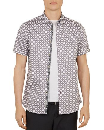 Ted Baker - Blushes Geo Print Slim Fit Shirt