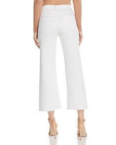 3x1 - Aimee High-Rise Cropped Wide-Leg Jeans in Dutch White