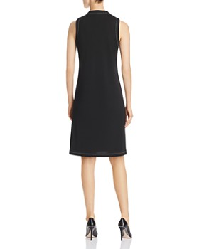 Donna Karan - Sleeveless Contrast-Stitch Dress