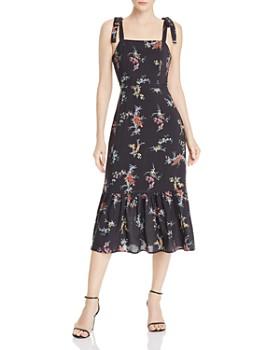 PAIGE - Tolucah Orchid-Print Dress in Black