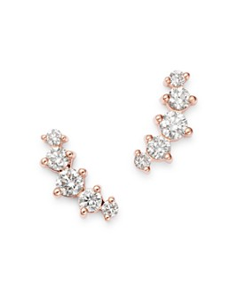 Bloomingdale's - Diamond Five-Stone Climber Earrings in 14K Rose Gold, 0.50 ct. t.w. - 100% Exclusive