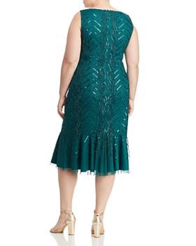 Adrianna Papell Plus - Beaded Flounce-Hem Dress