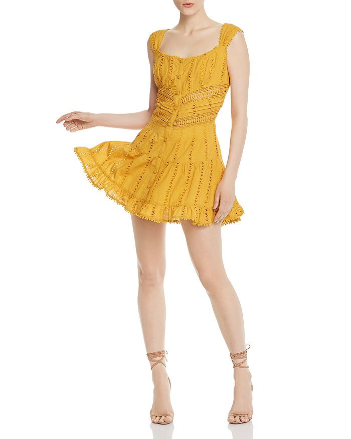 Rahi - Fiesta Crocheted Eyelet Mini Dress