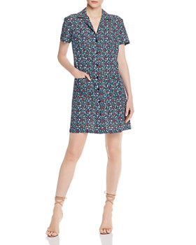 19ebea6d929 FRENCH CONNECTION - Eden Ditsy Crepe Shirt Dress ...