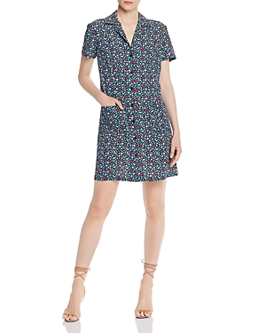 French Connection Eden Ditsy Crepe Shirt Dress