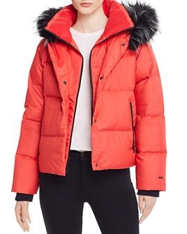 The North Face® - Dealio Faux Fur-Trim Cropped Down Coat