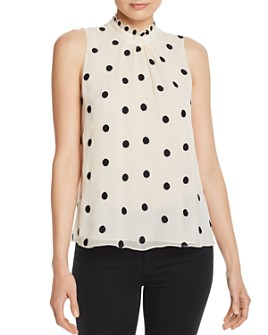 Rebecca Taylor - Embroidered Polka-Dot Top