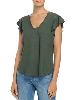 Rebecca Taylor - Flutter-Sleeve Tee