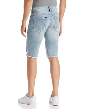 True Religion - Ricky No Flap Slim Fit Cutoff Denim Shorts