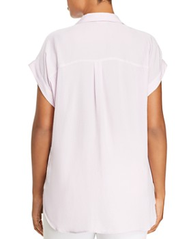 VINCE CAMUTO Plus - Collared Henley Top